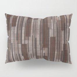Brown Line Grid Pillow Sham