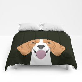 Darby - Beagle gifts for pet owners and dog person with a beagle Comforters