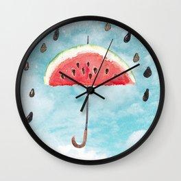 Melon- Fruity Summer Rain Wall Clock