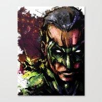 green lantern Canvas Prints featuring Green Lantern by Vincent Vernacatola