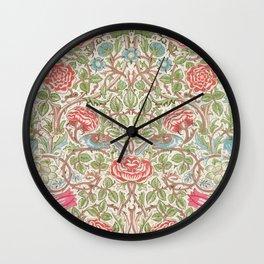 William Morris - Roses - Digital Remastered Edition Wall Clock