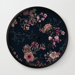 Japanese Boho Floral Wall Clock