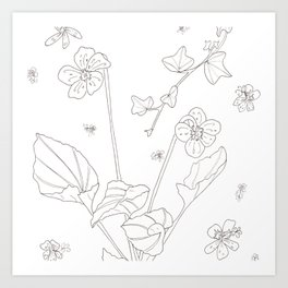 Flora of Friendship - Color or Paint Your Own! Art Print