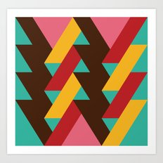 Ribbon Pattern 2 Art Print
