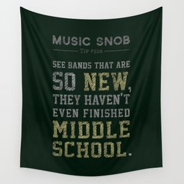 Newest of the NEW — Music Snob Tip #526 Wall Tapestry