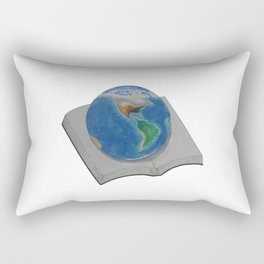 The World in Pages Rectangular Pillow