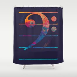 Bass Clef Color Shower Curtain