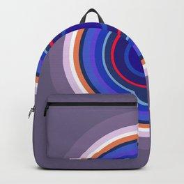 Mod World Grey Blue Circles Backpack