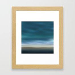 Dreamscape #7 blue-green Framed Art Print