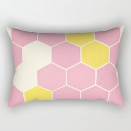 Pink Honeycomb Rectangular Pillow