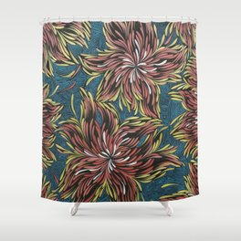 Native Points of Perception Shower Curtain