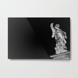 Guardian Angel in Black and White Metal Print