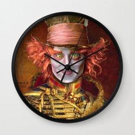 Mad Hatter General Portrait Painting Fan Art Wall Clock