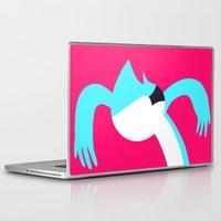 regular show Laptop & iPad Skins featuring Mordecai - Regular Show by Rey~