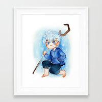 jack frost Framed Art Prints featuring Jack Frost by cynamon