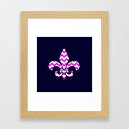 Chevron Fleur  Framed Art Print