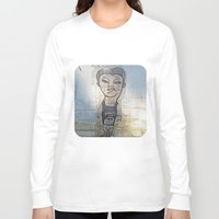 potato Long Sleeve T-shirts featuring Small Potato  by Ethna Gillespie