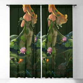 Naiad with Pond Dress Blackout Curtain