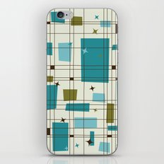 Mid-Century Modern (teal) iPhone & iPod Skin