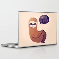 nan lawson Laptop & iPad Skins featuring Nap Time All The Time by Nan Lawson