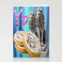 cookies Stationery Cards featuring COOKIES! by Aldo Couture