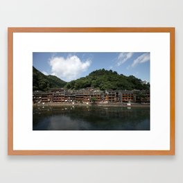 the ancient city named phoenix Framed Art Print