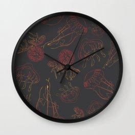Sunset Jellies Wall Clock
