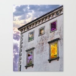 Flowers in the Windows Canvas Print