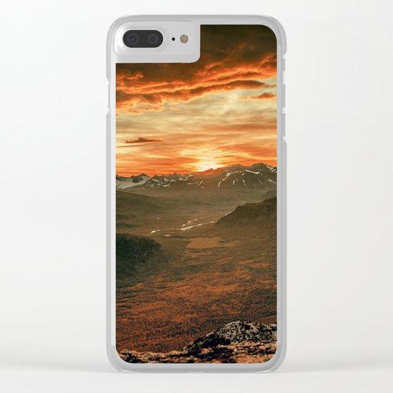 Sunset Landscape Clear iPhone Case