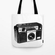 Retro Camera Sketch B/W Tote Bag