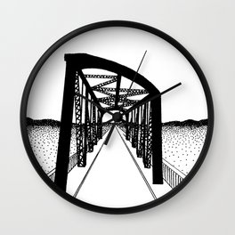 "Bridge, ""Indian Leap Street"" Wall Clock"