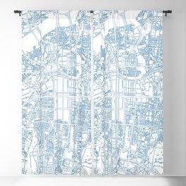 Street MAP Osaka // Blue Blackout Curtain