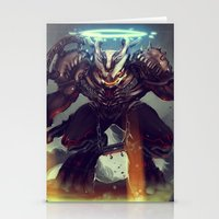 titan Stationery Cards featuring Titan Terrabreaker by Benedick Bana