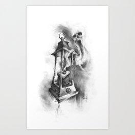 The Black Candle Art Print