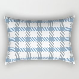Tattersall Inspired - Blue/Grey Rectangular Pillow