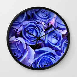Blue Roses for You Wall Clock