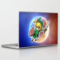 triforce Laptop & iPad Skins featuring Triforce Hero by Febrian89