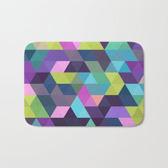 Colorful Geometric Background III Bath Mat