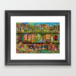 The Secret Garden Book Shelf Framed Art Print