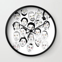 Rappers Wall Clock