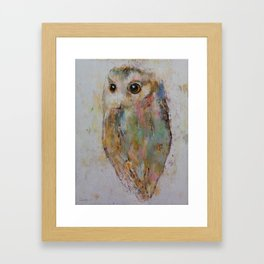 Owl Painting Framed Art Print