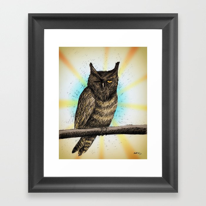 "Sleeping Owl - From ""Helpers"" Framed Art Print"