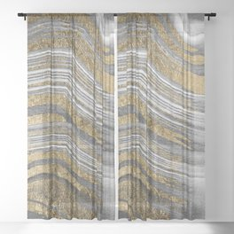 Abstract paint modern Sheer Curtain