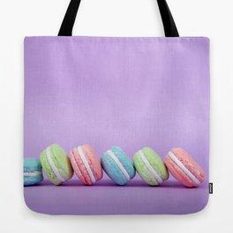 Row of Macaron Cookies Tote Bag
