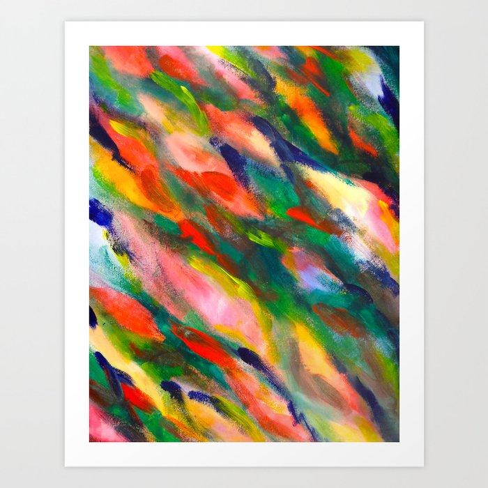 Swimming upstream abstract Art Print