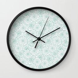 Bouquet. Wall Clock