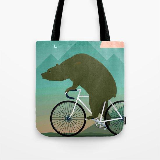 Bear Rider Tote Bag