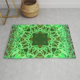 Ornate Green Celtic Mandala Rug Rug