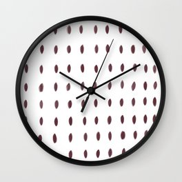 Paint Dabs in Berry Wall Clock