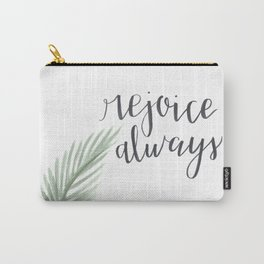rejoice always // watercolor bible verse palm branch Carry-All Pouch